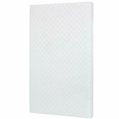 """White 3"""" Portable Mini Crib Baby Bed Mattress Foam Firm Support Waterproof Cover"""