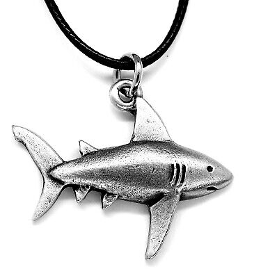 Shark Pewter Pendant Necklace