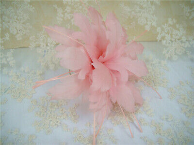 Goose Feather Plume Flower Mount Millinery Hat Fascinator Hairpieces 80 Colours