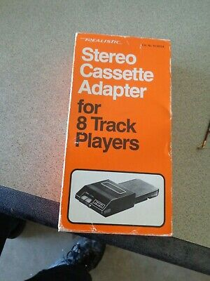 Realistic Stereo Cassette Adapter For 8 Track Players New In Box never used