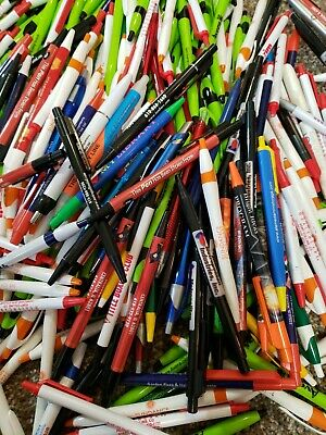 Wholesale Lot of 150 Misprint Ink Pens Ball Point Retractable HUGE Mixed Lot