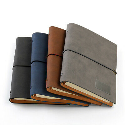 A5 Leather Vintage Journal Notebook Lined Paper Diary Planner Binding 192Pages