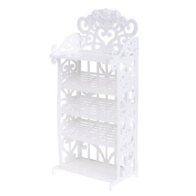 Plastic 5 Tier Shoes Rack Shelf Display Stand + 8 Pairs Shoes Dolls Furniture