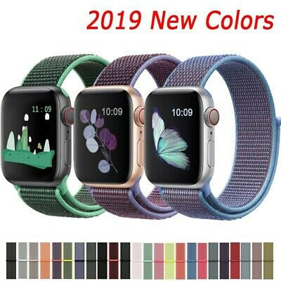 Nylon Band Sport Loop Woven Strap Apple Watch Series 4 3 2 1 - 38 40 42 44mm