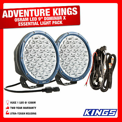"9"" OSRAM LED Driving Lights Wiring Harness Included Ulta Tough Bright SUV 4WD"