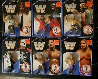 WWE Mattel Retro SERIES 2 COMPLETE 6 Figure Set - NEW - light package wear