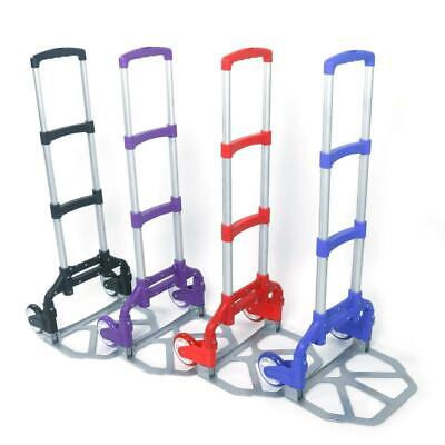 Portable Aluminium Cart Folding Dolly Push Truck Collapsible Trolley Luggage