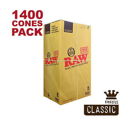 RAW 1400 Classic King Size Cones - Pure Hemp 109mm Pre Rolled Cones