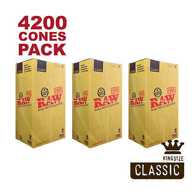 RAW 4200 Classic King Size Cones - Pure Hemp 109mm Pre Rolled Cones