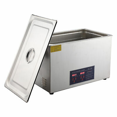 Stainless Steel 15L Liter Industry Ultrasonic Cleaner Heated Heater w/Timer.
