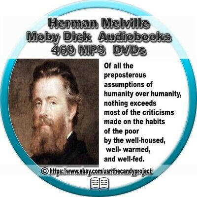 469 MP3s Herman Melville Audiobooks Moby Dick Fiction Suspense DVD