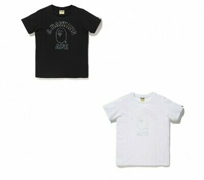 a07d6cde0 A Bathing Ape Ladies Tops Hologram College Tee Casual 2Color New 2019 Japan  Sw
