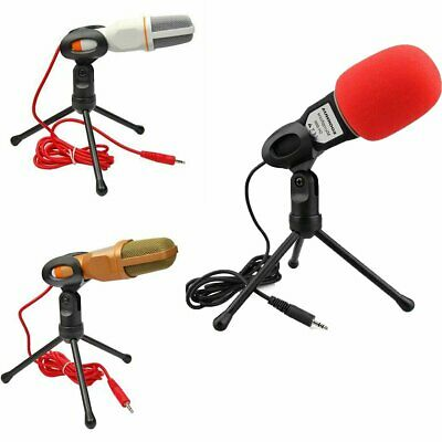 Pro Condenser Sound Podcast Studio Microphone For Smartphone PC Laptop Skype MSN