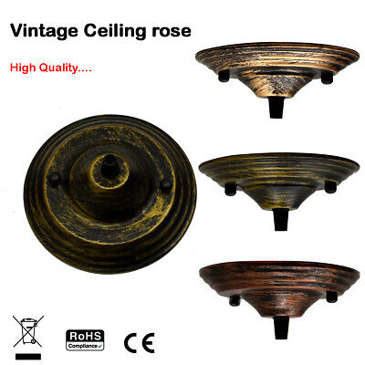 Single Point Drop Outlet ceiling rose | Perfect for fabric flex Fixing Plate UK