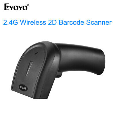 AU 2.4G USB Wireless Cordless Portable 2D QR Barcode Scanner Bar Code Reader POS