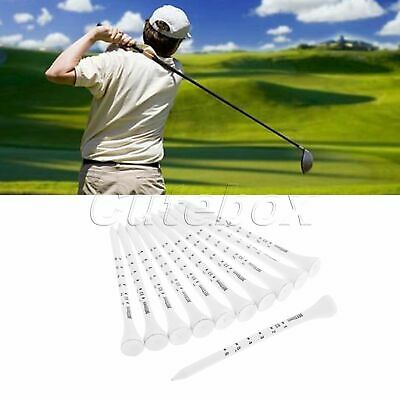 50Pcs Practice Golf Tees Wooden Golf Scale Tee Moderate Length Hitting by Irons