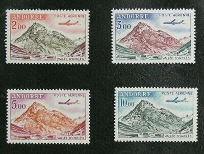 TIMBRES D'ANDORRE : 1961/64 YVERT POSTE AERIENNE N° 5 à 8** NEUF SANS CHARNIERE