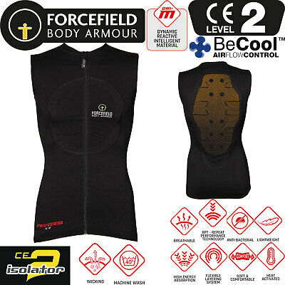 FORCEFIELD Protektorenweste PRO VEST X-V 2 Rücken BeCool CE Level 2 Gr. XL