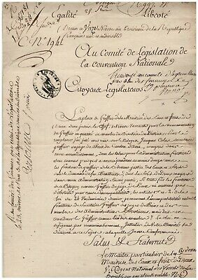 Révolution / Comité De Législation Convention Nationale (1795) / J.f. Monnot