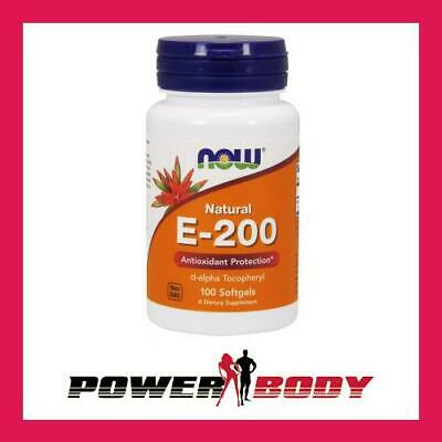 NOW Foods - Vitamin E-200, Natural - 100 softgels