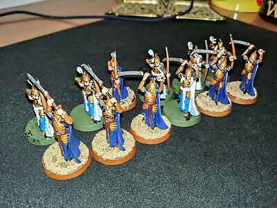 Warhammer 12 Elf Warriors of the Last Alliance The Lord of the Rings plastic