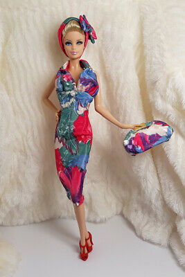 fa1d8392be3b Ooak Handmade Silk Outfit Dress Bag Hairband For Silkstone Model Muse Fr  Doll