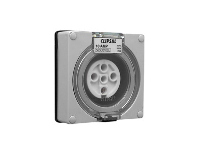 Clipsal 56SW320LE Surface Switch Less Enclosure 1 Gang 3 Pole 20A 500VAC Grey