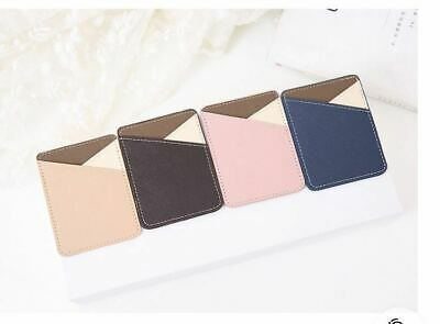 Universal  Cell Phone Wallet Case Credit Card Holder Stick On Adhesive