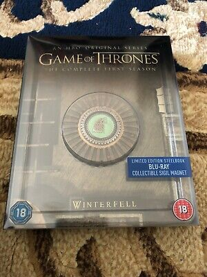 Game of Thrones Season 1 First Season Blu-ray Steelbook With Collectible Magnet