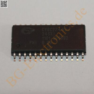 2PCS X CY8CLED16-28PVXI IC MCU 8BIT 32KB FLASH 28SSOP Cypress