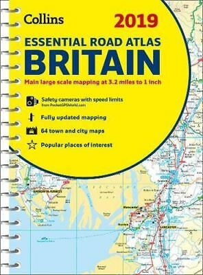 2019 Collins Essential Road Atlas Britain by Collins Maps