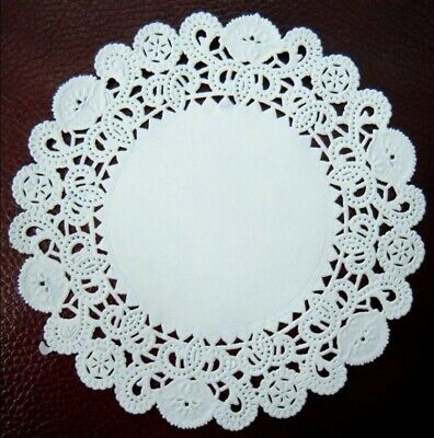 "Lacette White Round Paper Lace Doyleys Doylies Doilies Pack of 250  5""/12.5cm"