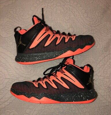 san francisco f727e 8e1bf Nike Air Jordan CP3 IX Chris Paul Hyper Orange Gold Black 810868-802 Size 8