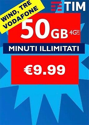 COUPON PASSA A TIM SPECIAL 50GB MINUTI ILLIM Da VODAFONE WIND TRE H3G