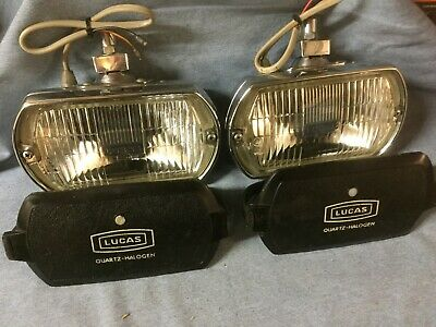 Aston Martin Cobra Mustang Lotus Lucas Chrome Fog Lamps Covers Ft8  Refurbished