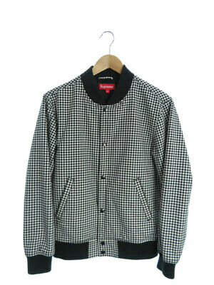 98fc3eccdb Authentic Supreme Plaid Bomber Jacket Gingham check 2013AW Men's #S Rank AB