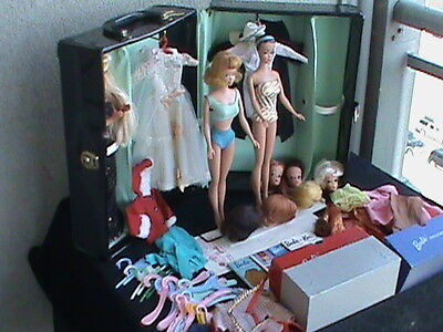 Barbie Vintage 1960's Collection,Case, Dolls, Clothes, Books and Accessories