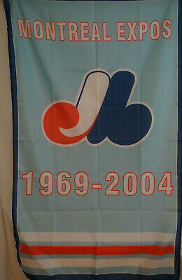 MONTREAL EXPOS 1969 - 2004 Fabric Wall Tapestry Man Cave Sports Bar 3x5 Feet