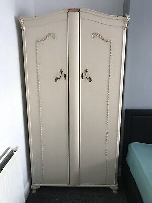 Vintage Louis French Provincial Style Wardrobe Antique Double Cupboard