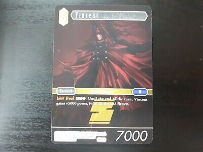 Final Fantasy TCG (FFTCG) Non-Foil Promo Vincent PR-002 NM English