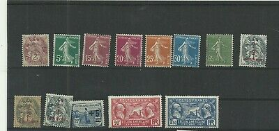 France lot de 13 timbres 1900-1927 neuf**