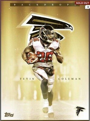 Topps Huddle DIGITAL Limited GOLD Backdrops TEVIN COLEMAN Falcons 500cc
