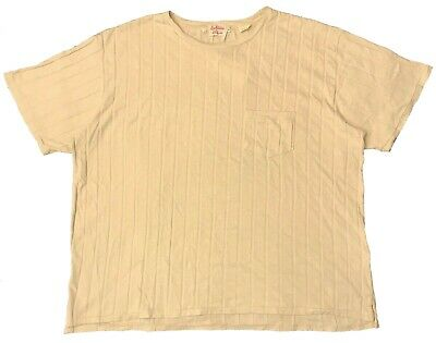 a3a28de4 LEVIS VINTAGE CLOTHING 1940s Ribbed Pocket T-Shirt - Beige (MEN'S ...