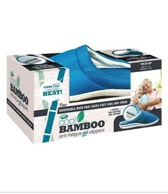 Comfort Pedic Cool Bamboo Anti-Fatigue Gel Slippers  Extra Large (MEN'S-10.5-12)