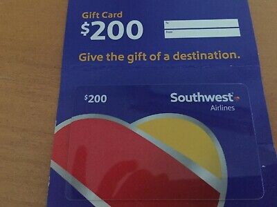 $200 - Southwest Airlines Gift Card - No Expiration