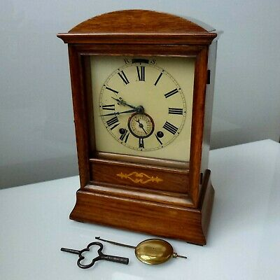 Antique Winterhalder & Hofmeier Black Forest Bracket Alarm Clock