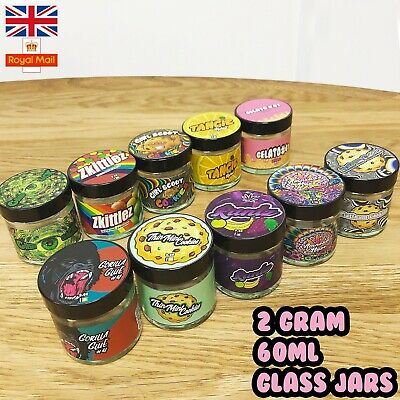 60ml Glass Jars + Stickers! Cali Medical Cookies Flavours Tubs ONLY UK TINS UK