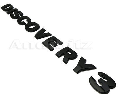 Land Rover Discovery 3 Disco Gloss Black Rear Back Lettering Word Badge Logo