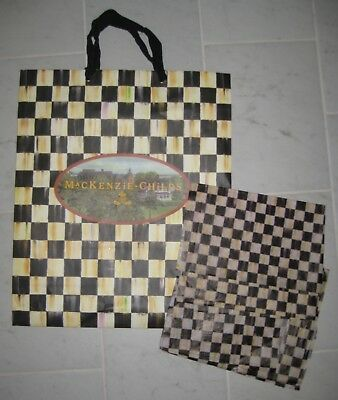 Mackenzie Childs ~ Large Gift Bag & Courtly Check Tissue