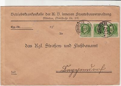bavaria 1919 stamps cover ref 21307